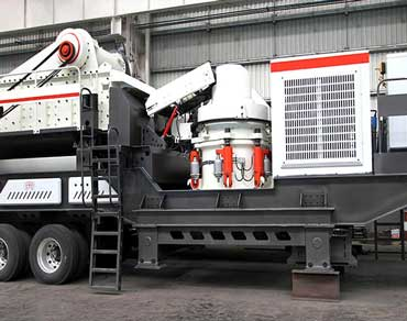 Mobile cone crusher station