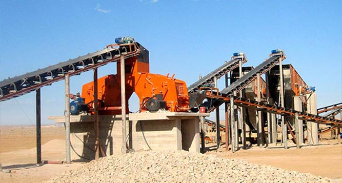 200-250 TPH Limestone Crushing Proces