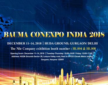 The Nile Machinery will attend Bauma CONEXPO INDIA 2018