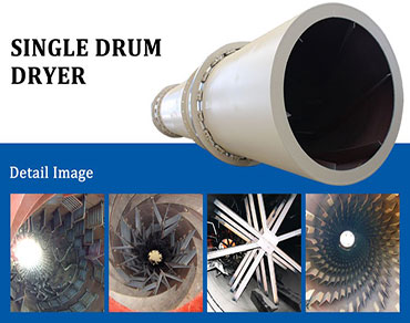 Single cylinder rotary dryer-a multifunctional dryer meet your demand